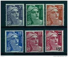 """FR YT 883 à 887 968 """" Série Complète  Marianne De Gandon """" 1951 Neuf** - Unused Stamps"""