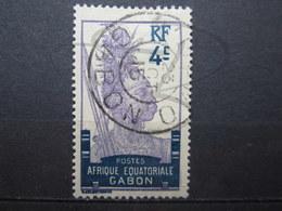 "VEND BEAU TIMBRE DU GABON N° 51 , OBLITERATION "" N'GOMO "" !!! - Used Stamps"