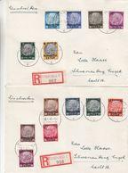 Pologne - Generalgouvernement - 2 Lettres Recom De 1940 - Oblit Krakau - Exp Vers Schwartzenberg-valeur 45 € ++ ( 35+10) - Ocupación 1938 – 45