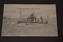Carte Postale 1910 Marine Militaire Française Le Bonite Sous Marin - Guerre