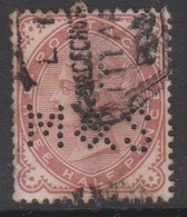 Great Britain SG 167 Three Half Pence Venetian Red, Perfin, Used - 1840-1901 (Victoria)