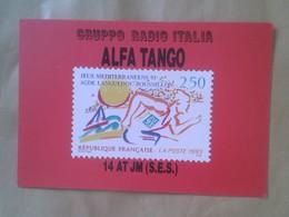 TARJETA TIPO POSTAL TYPE POST CARD QSL RADIOAFICIONADOS RADIO AMATEUR JEUX MEDITERRANEENS 93 LANGUEDOC-ROUSSILLON 1993 - Sin Clasificación
