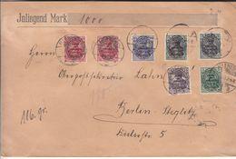 Allemagne - Empire - Allenstein - Lettre De 1920 ° - Oblit Allenstein - Exp Vers Berlin - Germania