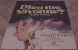AFFICHE CINEMA ORIGINALE FILM DIEU ME SAVONNE ! ( FUNNY PEOPLE ) - Jamie UYS TB DESSIN HUREL 1983 - Affiches & Posters