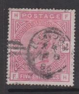 Great Britain SG 180 1883 5sh Rose, Used - 1840-1901 (Victoria)