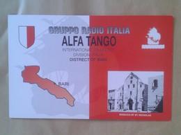 TARJETA TIPO POSTAL TYPE POST CARD QSL RADIOAFICIONADOS RADIO AMATEUR ITALIA BARI BASILICA OF ST. NICHOLAS SAN NICOLÁS - Sin Clasificación
