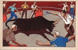 93Maj   Illustrateur Course à La Cocarde Aux Arénes Aux Saintes Maries De La Mer - 1900-1949