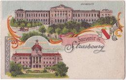 67. Souvenir De STRASBOURG. Université Et Ancien Palais Impérial - Strasbourg