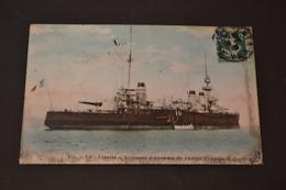 Carte Postale 1908 Marine Militaire Française Le Liberté Cuirassé - Guerre