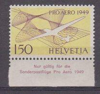 Switzerland 1949 Pro Aero 1v  + Margin ** Mnh (42440) - Luchtpostzegels