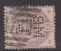 Great Britain SG 190 1883 2.5d Lilac, Perfin, Used - 1840-1901 (Victoria)