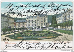 MARIENBAD:  FRANZ  JOSEPHSPLATZ  -  NACH  BOHEMEN  -  KLEINFORMAT - Repubblica Ceca