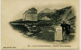 3635 - Savoie  - COL DU PETIT SAINT BERNARD - FRONTIERE FRANCO-ITALIENNE  Et HOSTELLERIE (disparue ??) (avant 1904) - Autres Communes