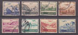 Switzerland 1941 Flugpost / Airmail 8v Used (42440C) - Luchtpostzegels