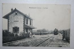 02 : Pontavert - La Gare ( Train , Animation ) - France