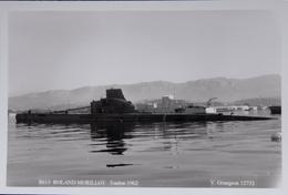 Lot De 4 Photos De Sous-marins Français (Roland Morillot, Flore, Agosta, Rubis) - Sous-marins
