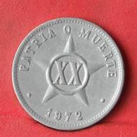 CUBA 20 CENTAVOS 1972 -    KM# 35,1 - (Nº28424) - Cuba