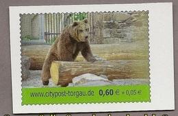 Privatpost - Citipost-Torgau -Europäischer Braunbär (Ursus Arctos) Postfr. - BRD