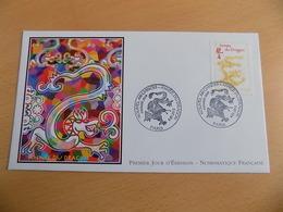 FDC France : Nouvel An Chinois, Année Du Dragon - Paris 06/01/2012 - FDC