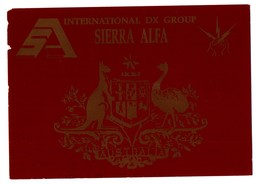 TARJETA TIPO POSTAL TYPE POST CARD QSL RADIOAFICIONADOS RADIO AMATEUR INTERNATIONAL DX GROUP SIERRA ALFA AUSTRALIA VER - Sin Clasificación