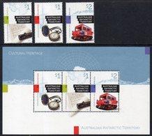Antarctique Australien 248/50 Et Bf 21 Héritage Culturel, Barométre, Auto-chenille, Proclamation De Territoire - Neufs