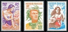POLYNESIE 1978 - Yv. 121 122 123 **   Cote= 14,50 EUR - 1ère émission De Timbres (3 Val.)  ..Réf.POL23857 - Neufs