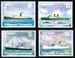 POLYNESIE 1978 - Yv. 124 125 126 127 **   Cote= 18,00 EUR - Navires En Polynésie (4 Val.)  ..Réf.POL23858 - Neufs