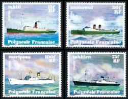 POLYNESIE 1978 - Yv. 124 125 126 127 ** TB  Cote= 18,00 EUR - Navires En Polynésie (4 Val.)  ..Réf.POL23859 - Unused Stamps