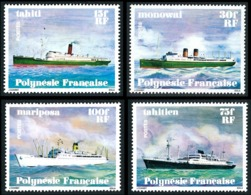 POLYNESIE 1978 - Yv. 124 125 126 127 ** TB  Cote= 18,00 EUR - Navires En Polynésie (4 Val.)  ..Réf.POL23859 - Neufs
