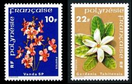 POLYNESIE 1979 - Yv. 128 Et 129 ** TB  Cote= 4,00 EUR - Fleurs Vanda Et Gardenia (2 Val.)  ..Réf.POL23860 - Unused Stamps