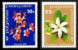 POLYNESIE 1979 - Yv. 128 Et 129 ** TB  Cote= 4,00 EUR - Fleurs Vanda Et Gardenia (2 Val.)  ..Réf.POL23861 - Unused Stamps