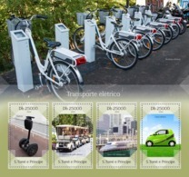Sao Tome 2014  Electric Transport , Electric Golf Car, Train - Sao Tome And Principe