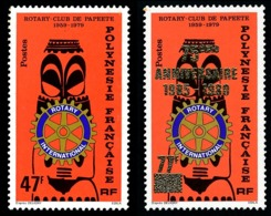 POLYNESIE 1979 - Yv. 145 Et 146 **   Cote= 11,90 EUR - Rotary Club (+ Avec Surcharge)  ..Réf.POL23870 - Neufs
