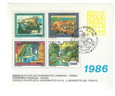 Erinnofilo San Benedetto Del Tronto 1986 Timbrato Cod.fra.1184 - 1981-90: Oblitérés
