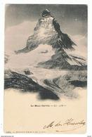 LE  MONT  CERVIN:    ALT. 4482  M. -  POUR  L' ITALIE  -  FP - Escalade