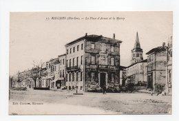 - CPA RIEUMES (31) - La Place D'Armes Et La Mairie - Edition Cucuron N° 15 - - Francia