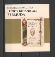 UU707 BERMUDA FLORA FLOWERS LEFROY BOTANICALS #1092-01 MICHEL 14 EURO BOOKLET MNH - Plants