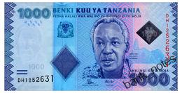 TANZANIA 1000 SHILINGI ND(2015) Pick 41b Unc - Tanzania