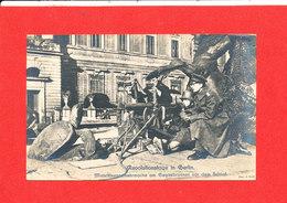 BERLIN In REVOLUTIONSTAGE Cpa Animée Soldat Mitrailleuse Guerre Photo Edit GroB - Deutschland
