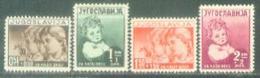 YU 1938-350-3 CHILDREN, YUGOSLAVIA, 4v, * - 1931-1941 Königreich Jugoslawien