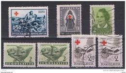 JUGOSLAVIA:  1938/56  BENEFICENZA  -  7  VAL. US. -  YV/TELL. 3//27 - Beneficenza