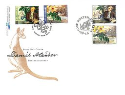 Joint Issue Zweden Australia Daniel Solander 2001 On Large FDC LIMITED QUANTITY ISSUED (159d) - 2000-09 Elizabeth II