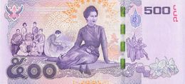 500 Baht 7th Cycle Birthday Queen Sirikit Thailand 2016 UNC - Thailand
