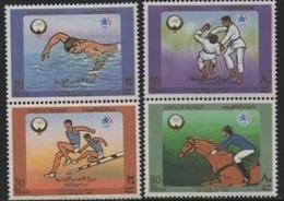 """Kuwait 1984 Olympic Games-Jeux Olympiques """"LOS ANGELES"""" (Swim/Natation-Horse Riding/Equitation-Athletic) ** - Koeweit"""