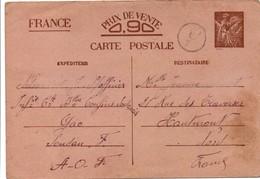 Iris Interzones 1941 - De Gao Soudan - Marque De Censure Mais Pas De Cachet à Date Hélas - Batailllon Confins Soudanais - Entiers Postaux