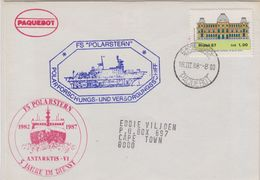 Brazil 1988 Polarstern Cover  Ca Polarstern Ca Cape Town 18 III 88 (42441) Promotion - Postzegels