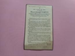 D.P.-HENRI-J.CORYN °NAZARETH 25-9-1901+AUDENAARDE 15-8-1936 - Religione & Esoterismo