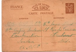 Iris Interzones 1941 - Tombouctou Soudan - Marque De Censure Pas De Cachet à Date Hélas - Batailllon Confins Soudanais - Entiers Postaux