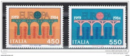 REPUBBLICA:  1984  EUROPA  -  S. CPL. 2  VAL. N. -  SASS. 1680/81 - Europa-CEPT