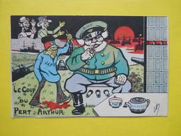 Politique ,Satiriques, Guerre Russo-Japonaise ,coup Du Pere Arthur - Satira